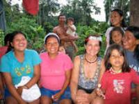 Laura Rival with her Huaorani nanicabo, Quehueire Ono, Ecuador, 2008